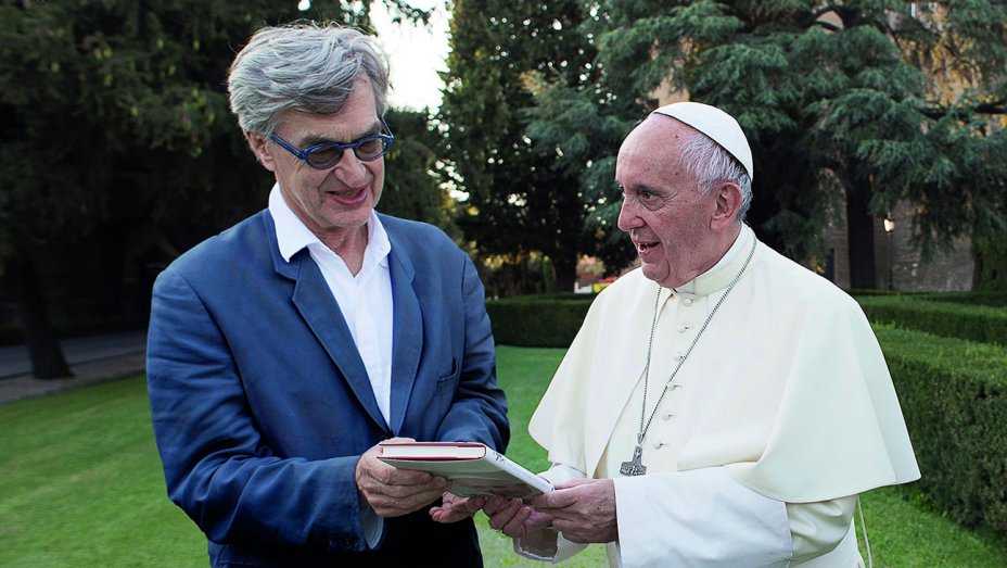 Pope Francis and Wim Wenders