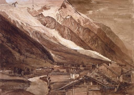 photo of an Alpine glacier