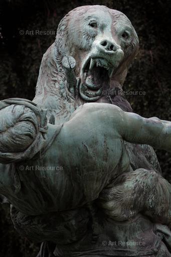 Bear attacking a woman