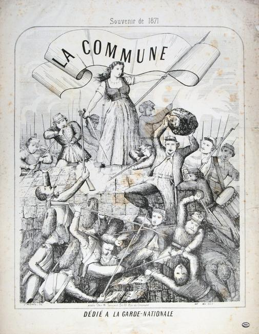 Manning the barricades of the Paris Commune, 1871