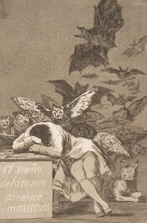 Goya etching