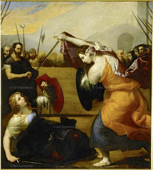 two women dueling