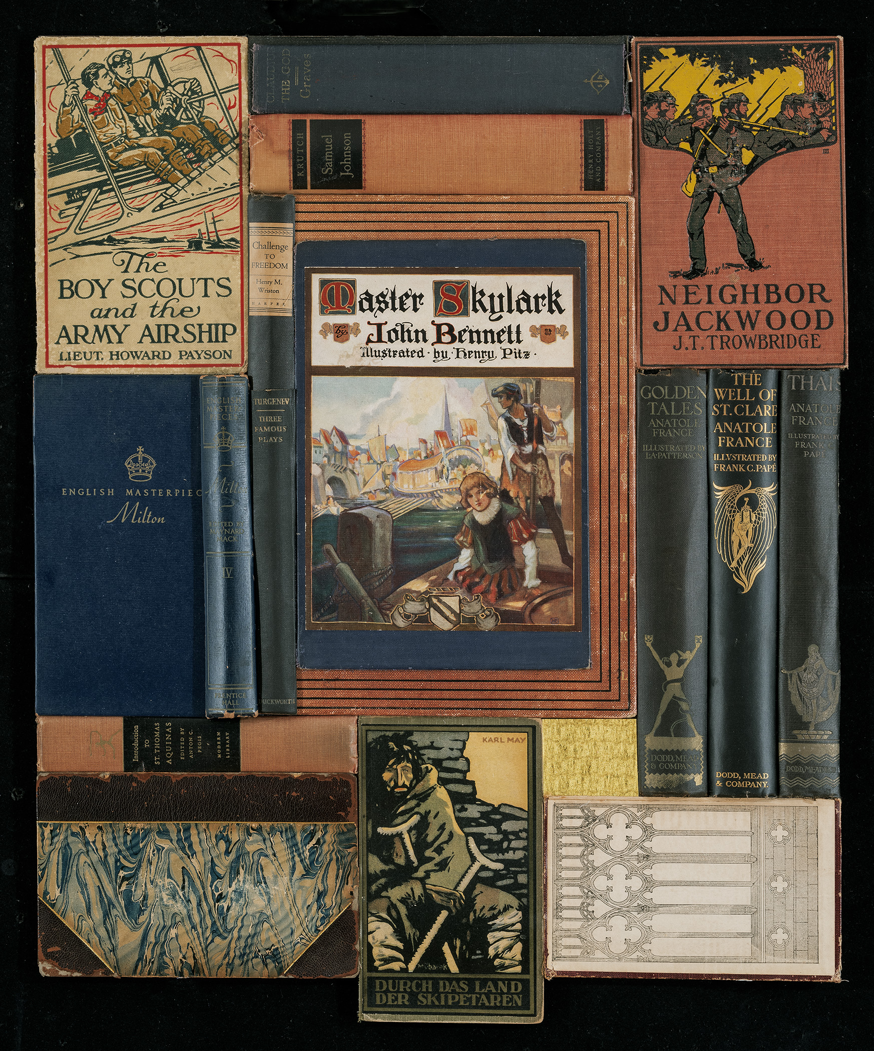 Assemblage of book covers