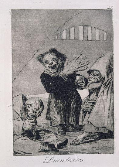 Goya etching of monstruous elves.