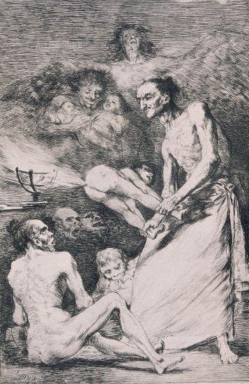 Goya etching. Capricho #69