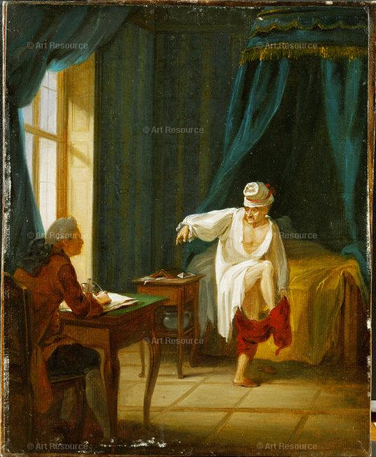 Voltaire and his secretary