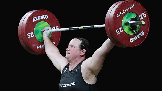 Transwoman weightlifter