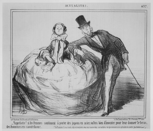 Satirical lithograph by Daumier