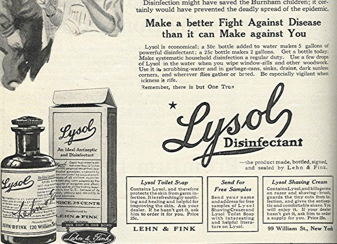 Lysol ad